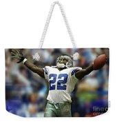 Emmitt Smith, Number 22, Running Back, Dallas Cowboys Weekender Tote Bag