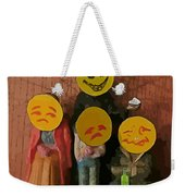 Emoji Family Victims Of Substance Abuse Weekender Tote Bag