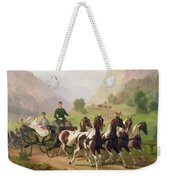 Emperor Franz Joseph I Of Austria Being Driven In His Carriage With His Wife Elizabeth Of Bavaria I Weekender Tote Bag