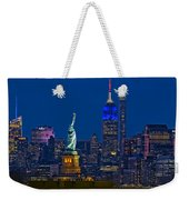 Empire State And Statue Of Liberty II Weekender Tote Bag