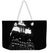 Empire State B W  Weekender Tote Bag