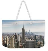 Empire State Building And Manhattan Skyline, New York City, Usa Weekender Tote Bag