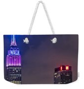 Empire State Building Esb At Night Weekender Tote Bag