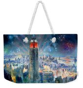 Empire State Building In 4th Of July Weekender Tote Bag