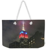 Empire State Building In The Fog Weekender Tote Bag
