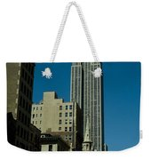 Empire State Building Seen From Street Weekender Tote Bag