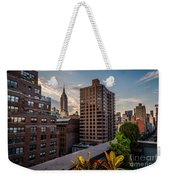 Empire State Building Sunset Rooftop Garden Weekender Tote Bag