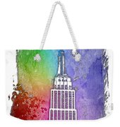 Empire State Of Mind Cool Rainbow 3 Dimensional Weekender Tote Bag