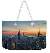Empire State Sunset Weekender Tote Bag