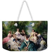 Empress Eugenie Surrounded By Her Ladies In Waiting Weekender Tote Bag by Franz Xaver Winterhalter