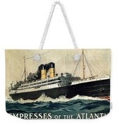 Empress Of The Atlantic - Canadian Pacific - Steamship - Retro Travel Poster - Vintage Poster Weekender Tote Bag