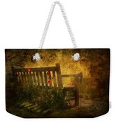 Empty Bench And Poppies Weekender Tote Bag by Svetlana Sewell