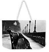 Empty Benches In The Snow Weekender Tote Bag