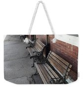 Empty Benches Weekender Tote Bag