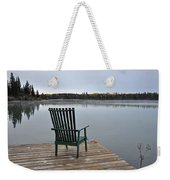 Empty Chair On Autumn Morning Weekender Tote Bag