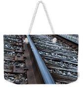 Empty Railroad Tracks Weekender Tote Bag