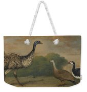 Emu, Cape Barren Goose And Magpie Goose Weekender Tote Bag