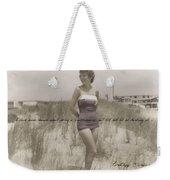 Emulating Marilyn Quote Weekender Tote Bag