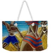 En Luquillo Se Goza Weekender Tote Bag by Oscar Ortiz