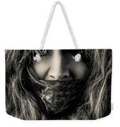 Enchanted Concept Black And White Weekender Tote Bag