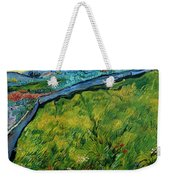 Enclosed Wheat Field With Rising Sun, By Vincent Van Gogh, 1889, Weekender Tote Bag