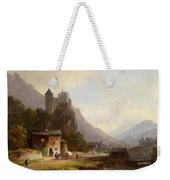 Encounter In A Mountain Valley Weekender Tote Bag