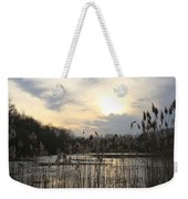 End Of Day At The Lake Weekender Tote Bag