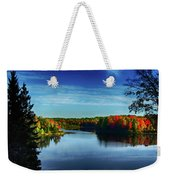 End Of The Day At The Lake Weekender Tote Bag