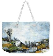 End Of Winter - Acrylic Landscape Painting On Cotton Canvas Weekender Tote Bag