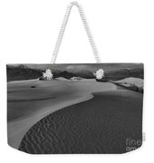 Endless Dunes Black And White Weekender Tote Bag