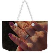 Engagement Ring Weekender Tote Bag