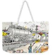 Engine On The Yard Weekender Tote Bag