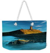 England, Northumberland, Dunstanburgh Castle Weekender Tote Bag