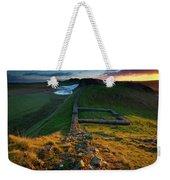 England, Northumberland, Hadrians Wall Weekender Tote Bag
