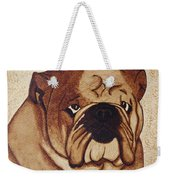 English Bulldog Coffee Painting Weekender Tote Bag