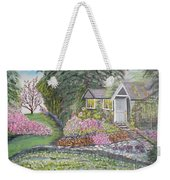 English Cottage Weekender Tote Bag