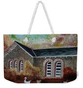English Cottage In The Autumn Weekender Tote Bag