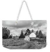 English Cottage In Winter Weekender Tote Bag