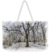 English Forest Snow Art Weekender Tote Bag