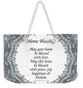 English Home Blessing Weekender Tote Bag