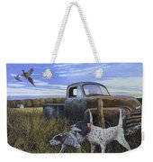 English Setters With Old Truck Weekender Tote Bag