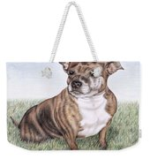 English Staffordshire Terrier Weekender Tote Bag