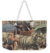 English Suffragettes Dressed As Firemen Weekender Tote Bag