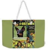English Toy Terrier Art Canvas Print - Batman Movie Poster Weekender Tote Bag