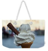 English Vanilla Ice Cream Cone And Flake Weekender Tote Bag