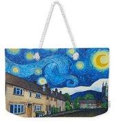 English Village In Van Gogh Style Weekender Tote Bag