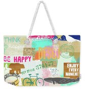 Enjoy Every Moment Collage Weekender Tote Bag