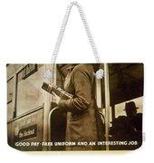 Enjoy Your War Work - London Underground, London Metro - Retro Travel Poster - Vintage Poster Weekender Tote Bag