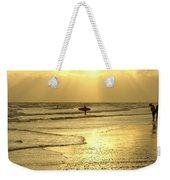 Enjoying The Beach At Sunset Weekender Tote Bag