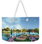 Enjoying The Shade World Showcase Lagoon Walt Disney World Weekender Tote Bag
